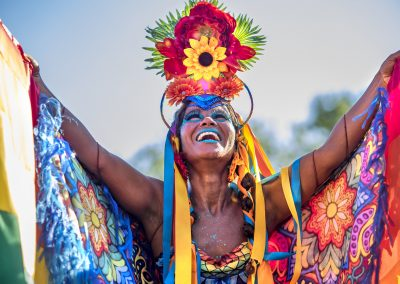 Brazilian Woman of African Descent Wearing Colorful Costume at C