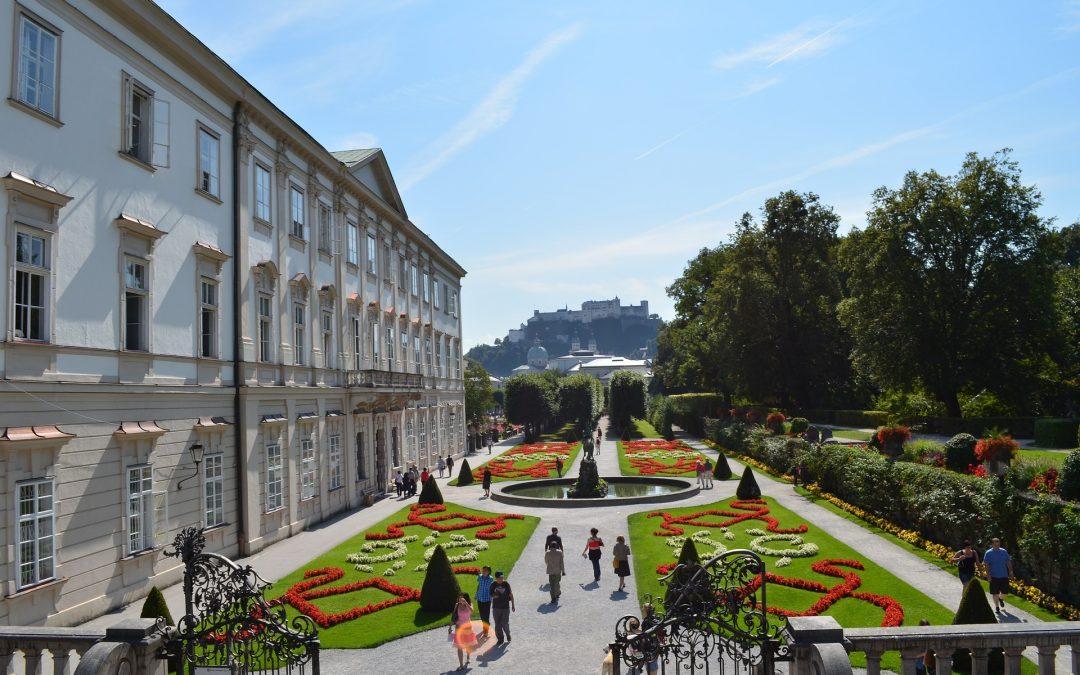 Uma tarde no palácio Mirabell